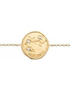 Bracelet Plaqué Or Signe Astrologique Sagittaire